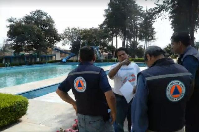 Operativo de Protección Civil y Bomberos en templos y balnearios