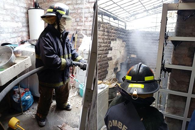 Bomberos sofocan incendio en Los Héroes de Puebla