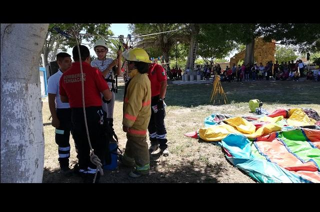 Bomberos y protección civil Tehuacán no alcanzan meta en redondeo