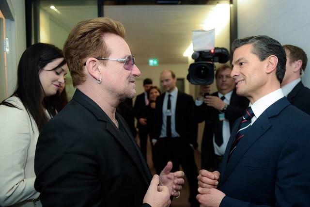 Comparte Peña Nieto en Twitter su encuentro con Bono
