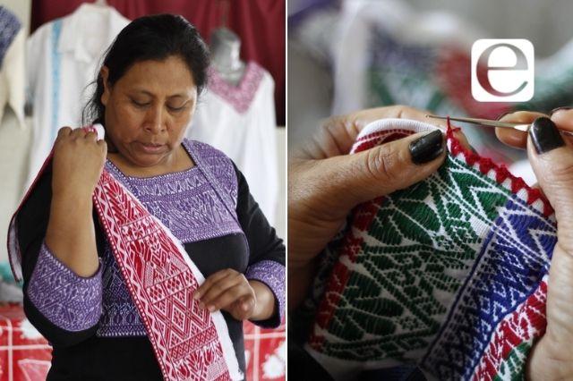 Mujeres conservan el arte del bordado en Miahuatlán