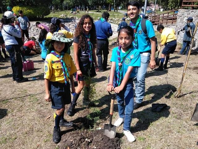 Puebla tiene primer bosque scout para cuidado del medio ambiente