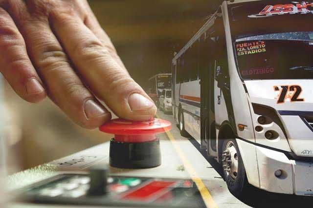 Incumplen con botón de pánico las rutas 72, 72A y Loma Bella