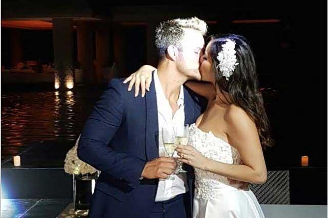Brandon Peniche y Kristal Cid se casaron por el civil