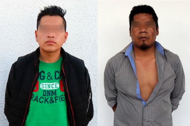 Caen dos asaltantes en Coronango, con pistola y cartuchos