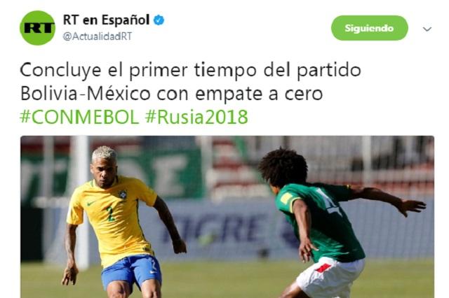 Se burlan de RT por confundir a la Selección Mexicana con Brasil