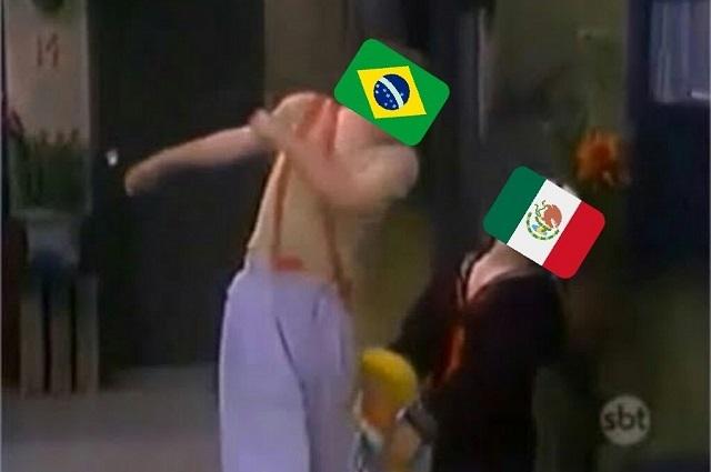 Hinchas de Brasil golpean al Tri con memes del Chavo del 8 y Quico