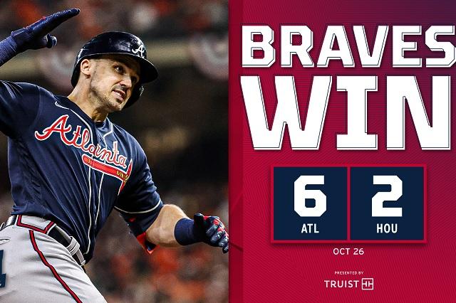 Serie Mundial: Braves se apuntan el primer juego tras vencer a Houston