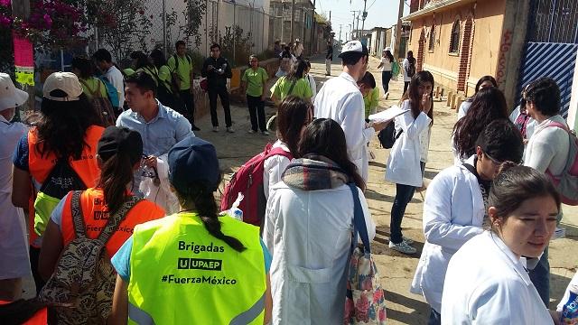 En salud y reconstrucción apoya Upaep a comunidades de Puebla