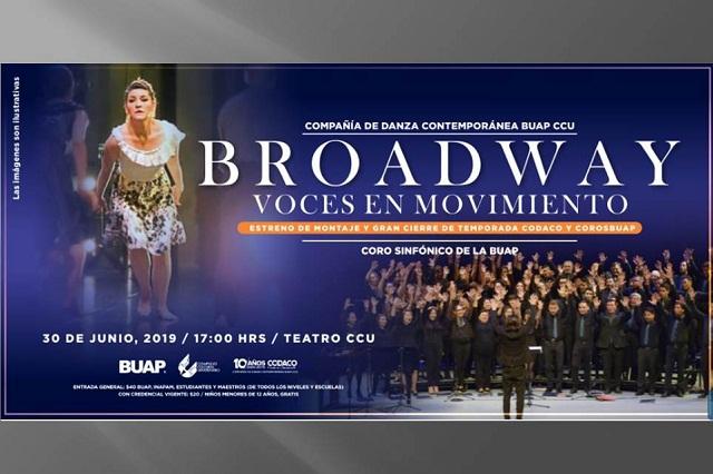 Broadway: voces en movimiento, en el CCU este 30 de junio a las 17:00 hrs.