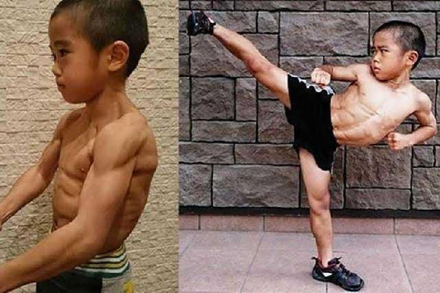Tiene 7 años y entrena para ser el próximo Bruce Lee