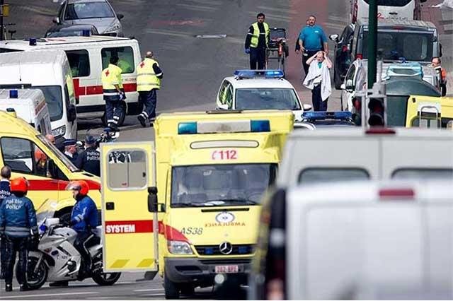 Ataques terroristas en el Metro y aeropuerto de Bruselas matan a 34 personas