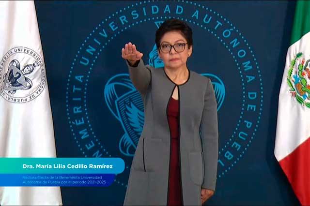Concluye era de Esparza en la BUAP; Lilia Cedillo es la nueva rectora