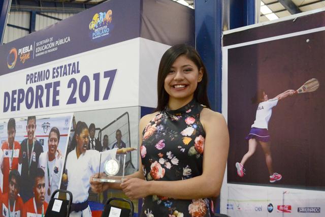 Estudiante de la BUAP gana el Premio Estatal del Deporte