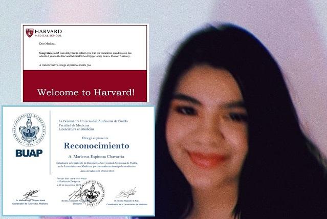 Estudiante de Izúcar de la BUAP es aceptada por Harvard en curso de medicina