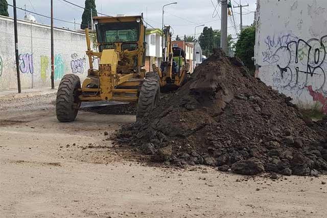 Obras de relaminación en Bugambilias cumplen medio año y no se les ve fin