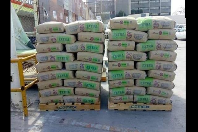 Roban 2 toneladas de cemento en colonia San Rafael Oriente