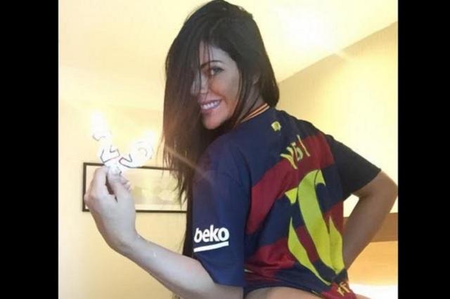 Miss Bum Bum reta a Antonella Rocuzzo y envía fotos hot a Messi
