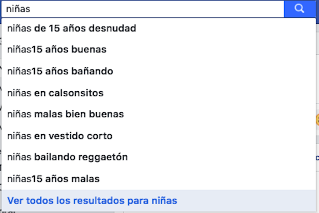 ¿Qué pasa si buscas la palabra niñas en Facebook?