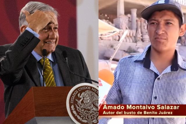 Autor del extraño busto de Benito Juárez ahora esculpirá uno de Amlo