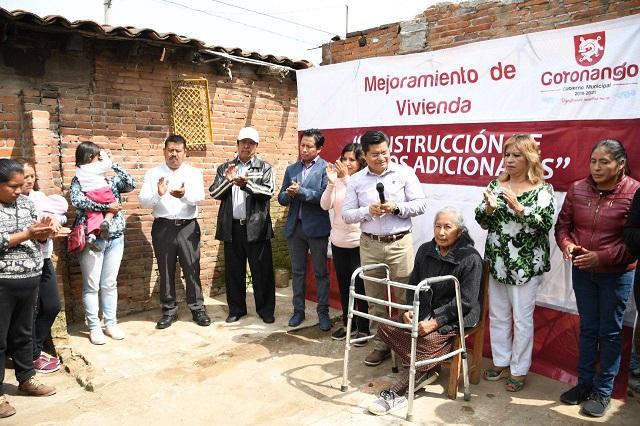 Inicia construcción de 100 cuartos adicionales en Coronango