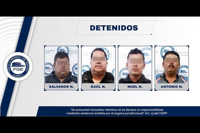 Por robo de tráiler procesan a policías de Huixcolotla