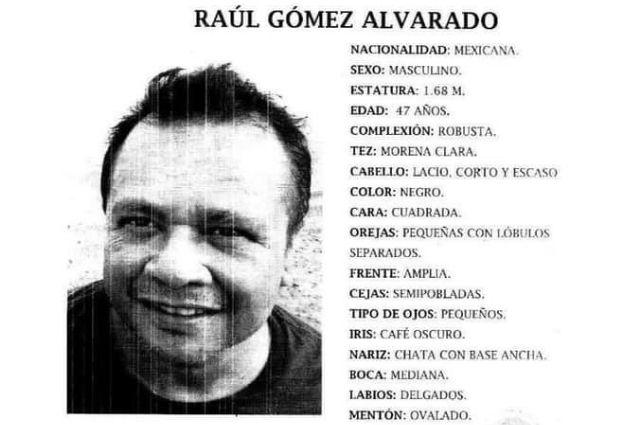Buscan a Raúl Gómez en Puebla