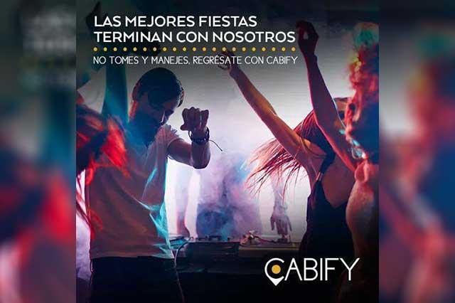 Presumía Cabify seguridad para chicas que acudieran a fiestas