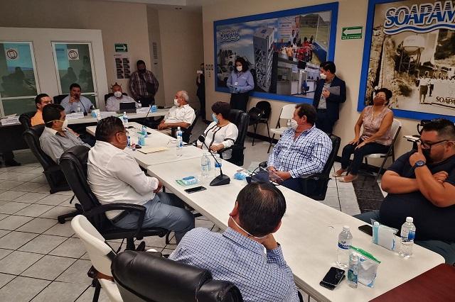 Siguen sin llegar a acuerdos sobre el pago de agua regidores y Soapama