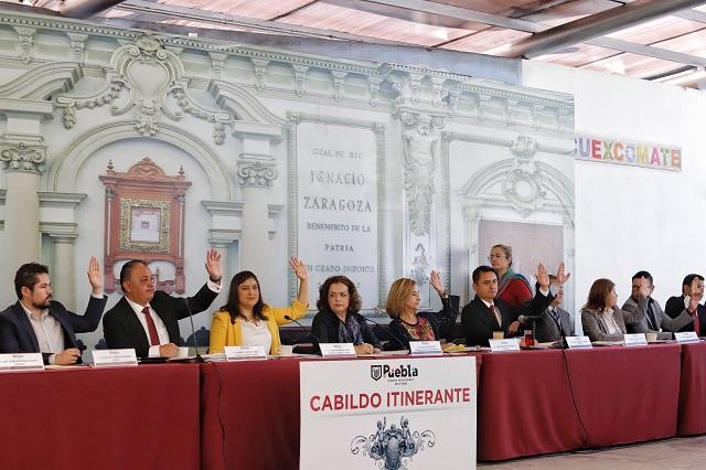 Regidores de Puebla va a juntas auxiliares a un año de gestión