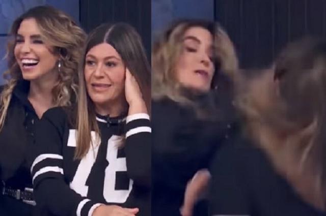Entre broma y broma... propinan tremenda cachetada a Martha Figueroa durante programa en vivo