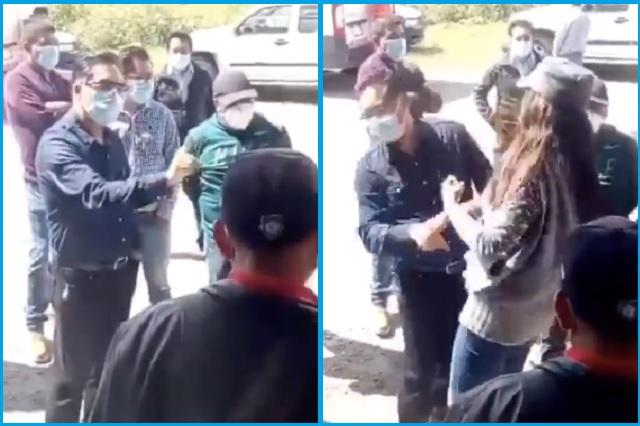 Cachetean a alcalde de Tlaxcala por 'no cumplir promesas de campaña'