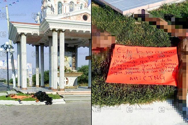 Abandonan a desmembrado junto a capilla de Yehualtepec