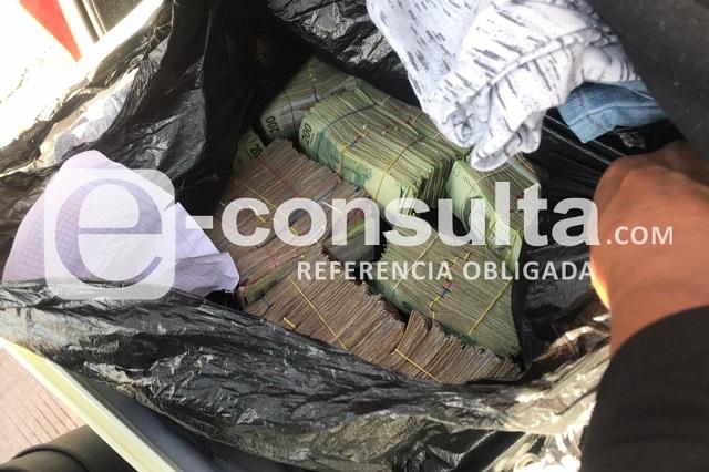 Cae asiático con 2 millones de pesos en Huejotzingo