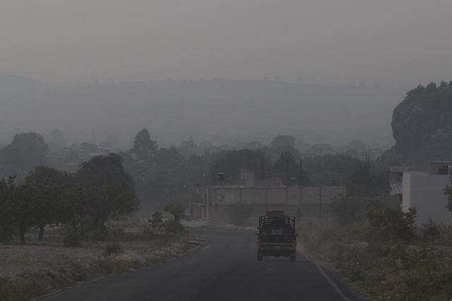 Cae ceniza en más de 20 municipios de Puebla y llega hasta Serdán