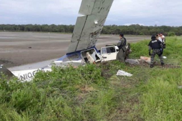 Tripulantes mexicanos bajo custodia tras accidente de avioneta en Guayas