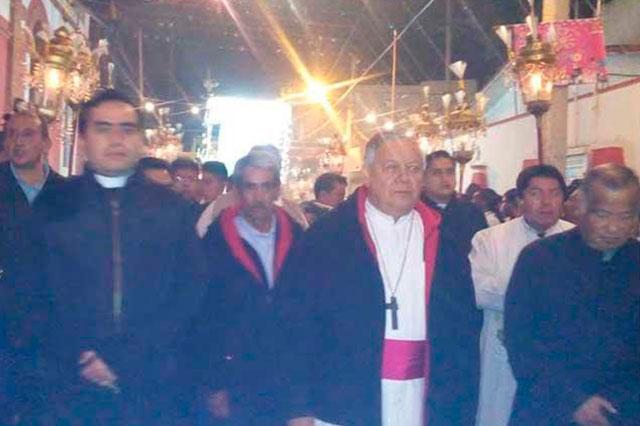 Celebran en Ciudad Serdán al Padre Jesús de las Tres Caídas