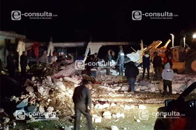 Explosión de polvorín en Chilcotla deja 14 muertos