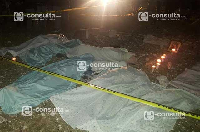 Mueren niños y adultos tras explosión de pirotecnia en Puebla