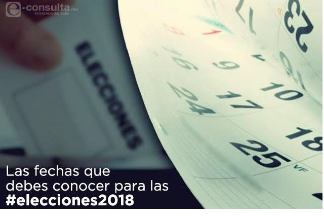 Conoce las fechas clave de las Elecciones 2018