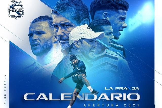 Rayados, Chivas y América, los primeros rivales del Puebla en el AP2021