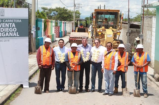 Inicia rehabilitación de la carretera La Venta-Organal