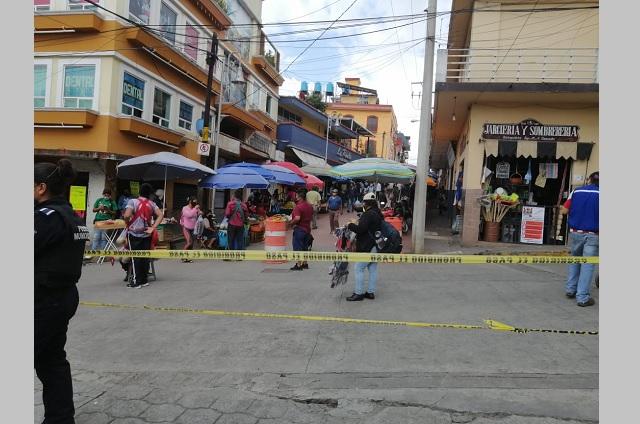 Ambulantes de Huauchinango van contra medidas de prevención por Covid