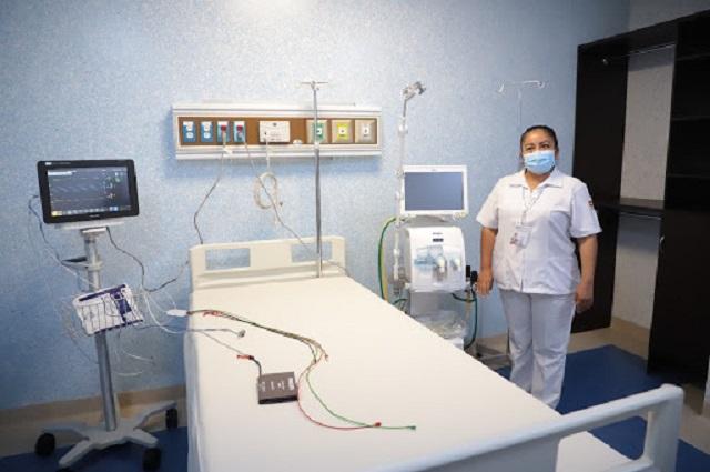 Reserva Salud cifra de camas disponibles para Covid en Puebla