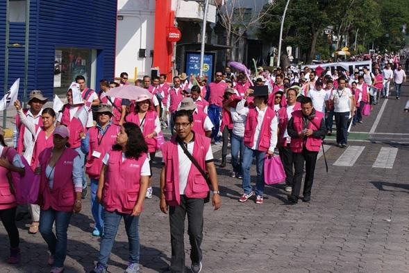 INE e IEE realizan  caminata por la democracia