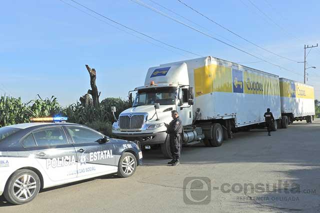 Chasco: roban camión de Coppel sin mercancía y lo abandonan