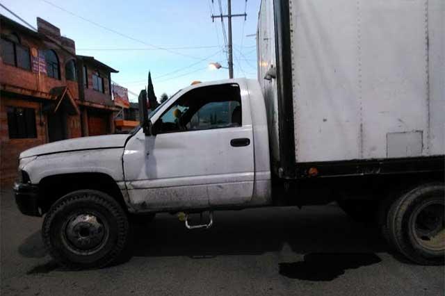 Hallan en Amozoc camioneta con reporte de robo en Puebla