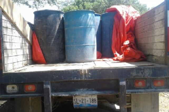 Es asegurada hasta Oaxaca camioneta huachicolera de Puebla