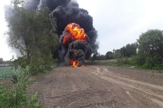 Se registra incendio en viaducto Pemex en puebla