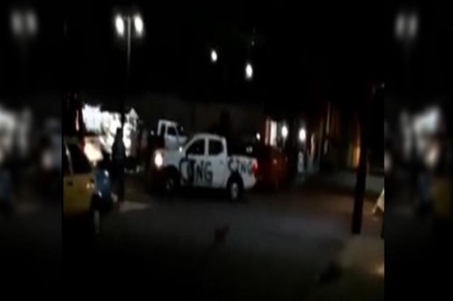 Presunto convoy CJNG intimida a vecinos en Cañada Morelos